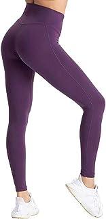 Lulupi Damen Leggings Blickdicht High Waist Sporthose Leggins Tights, Frauen Fitnesshose Trainingshose Lange Push-Up Sportleggins Yogahose Laufhose