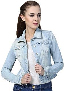 621146c0b Antik Full Sleeve Comfort Fit Regular Collar Blue Womens Denim Jacket
