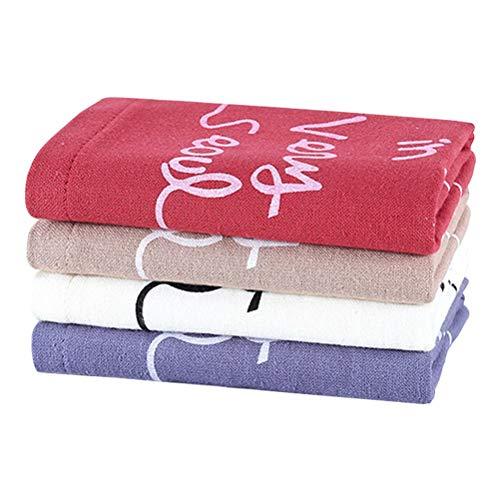 Lurrose 4pcs Coton Serviettes essuie-Mains Serviettes de Nettoyage pour la Maison et à l'extérieur