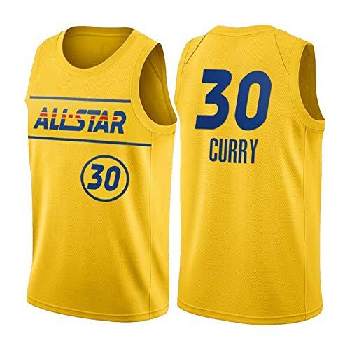 QPY StěPheń Cùrry Camisetas de Baloncesto para Hombres, Stěpheń Cùrry 2021 All-Star Western Jersey - Versión Bordada de Oro (S-XXL) L
