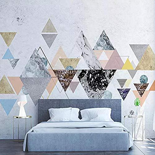 Moderne minimalistische geometrische kreative Tapete Schlafzimmer Sofa benutzerdefinierte Tapete graue Wandaufklebe Wanddekoration fototapete 3d Tapete effekt Vlies wandbild Schlafzimmer-350cm×256cm