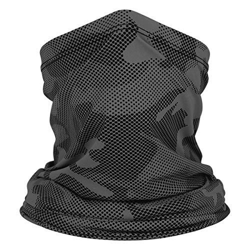 VIILOCK Camo Balaclava Face Mask Sun Protection Breathable Bandana Neck Gaiter for Men (Gray)