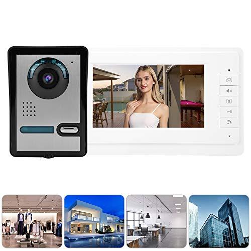 Bicaquu Videoportero Videoportero Teléfono Ultrafino Fácil de Instalar y Usar(European Standard (110-240V))
