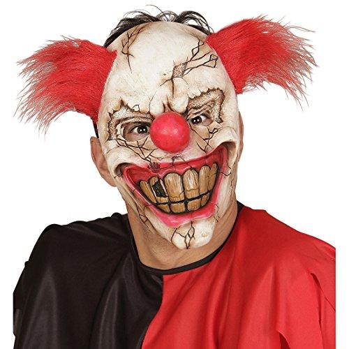 Amakando Psycho Clown Maske Horror Clownsmaske Horrormaske ES Halloween Clownmaske Gruselmaske Horrorclown Gruselige Halloweenmaske