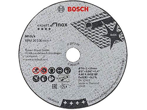 Bosch Professional 5 Stück Trennscheibe Expert for Inox (für Edelstahl, 76 x 10 x 1 mm, Zubehör Winkelschleifer)