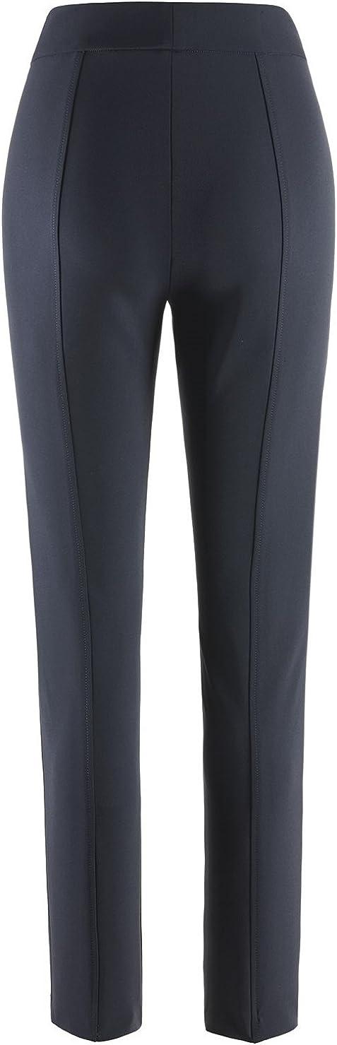 Stehmann - Pantalon - Slim - Uni - Femme Bleu Bleu Marine