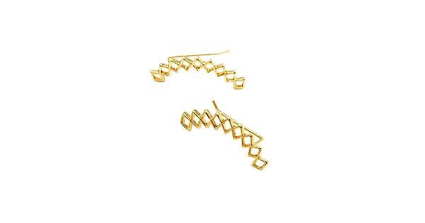 MIXIA Rhombus Clip On Earrings Women Girl Fashion Earring Simple Style Geometric Web Net Post Stud Earring Cartilage Jacket Jewelry