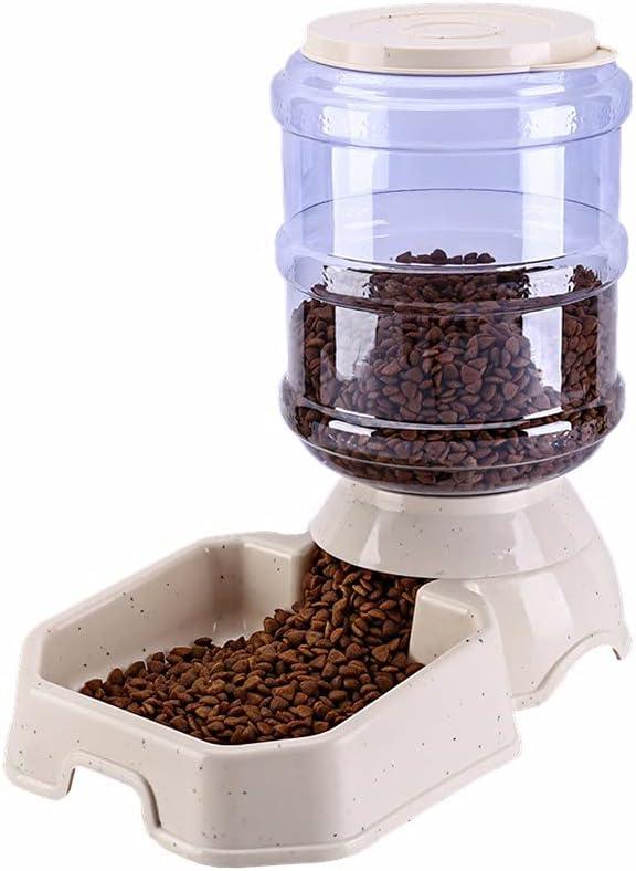 LAMCE Bebedero de plástico para Mascotas, alimentador automático, dispensador de Agua para Gatos y Perros, Cuenco para Mascotas 3.8L Multi