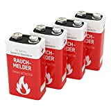 4 ANSMANN Lithium longlife Rauchmelder 9V Block Batterien - Premium Qualität für höhere Leistung, 9V Batterie ideal für Feuermelder, Bewegungsmelder, Alarmanlagen & Kohlenmonoxid Warnmelder