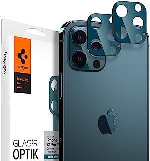 Spigen GLAStR Optik Camera Lens Screen Protector [2 Pack] designed for iPhone 12 Pro MAX - Pacific Blue