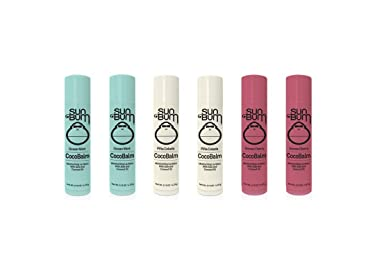 Sun Bum CocoBalm | Vegan and Cruelty Free Moisturizing Lip Balm with Aloe and Coconut Oil | Pina Colada, Ocean Mint, Groove Cherry (.15 oz) | Pack of 6 (2 of Each Flavor)