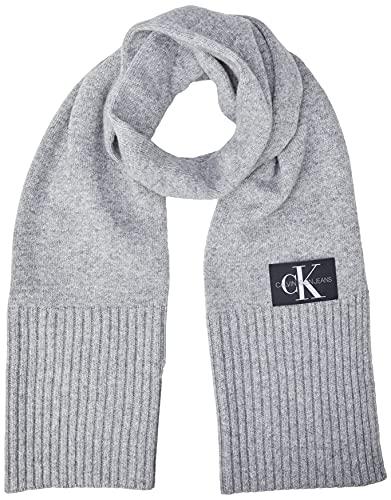 Calvin Klein J Basic Men Knitted Scarf Sciarpa, Grigio (Grey P01), Unica (Taglia Produttore: OS) Uomo