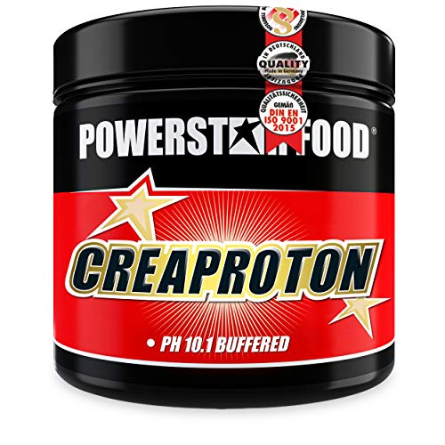 CREAPROTON - Stärkster Kraftbooster - Premium Kre-Alkalyn (Creapure® pH 10) - Hochwertigstes Creapure® - Für mehr Maximalkraft, Ausdauer und Muskelwachstum - 210 Kapseln - MADE IN GERMANY