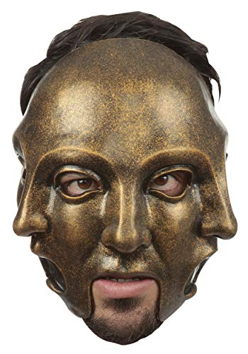 Ghoulish Masks 3 Faces Gold Adult Mask, One Size Fits Most