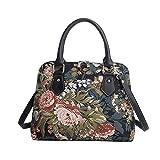 Signare tapiz mochila bandolera bolsos pequeños para mujer con diseños de jardín (Peonía)