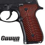 Guuun Beretta 92 Grips G10 Full Size Beretta 92fs 96 Grips Standard ECG Texture - Red/Black
