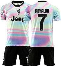 A/&H Fashion Boys Kids Football Soccer Kit Sportswear Light Blue Messi 10 Print T-Shirt Shorts Socks