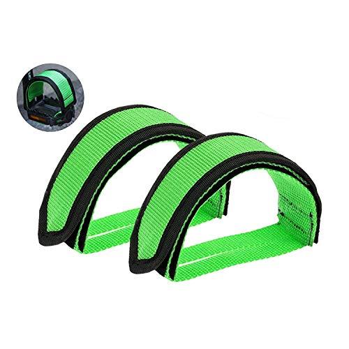 YGXICN Pedales MTB 1 par de Correas del Pedal, el Pedal del pie del Pedal del Pedal Correas niños Correas Correas de Bicicletas Bicicleta del pie Correas Pedales Bicicleta MontañA (Color : Green)