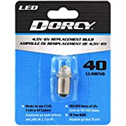 Dorcy 40-Lumen 4.5-6-Volt LED Replacement Bulb with 10-Year Lifespan, (41-1644)