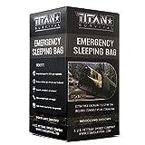 Titan Emergency Sleeping Bag/Thermal Bivy   Woodland CAMO   PE, 36' x 78'