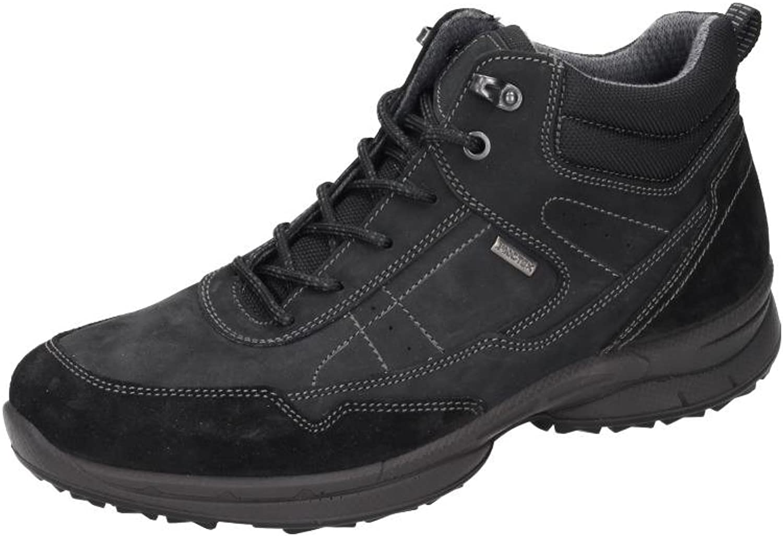 Manitu Men's Herren Stiefel Boat shoes Black Black