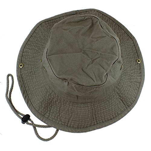 Gelante 100% Cotton Stone-Washed Safari Booney Sun Hats 1910-Olive-L/XL