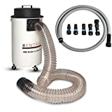 <span class='highlight'>Cen</span>-<span class='highlight'>Tec</span> <span class='highlight'>Systems</span> CTSDE50/W/Q 50l Workshop Dust Extractor Saw Dust and Chip Collector Complete Package with 100mm and 32mm Power Tool Hose - Made in The UK