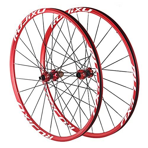 """RUJIXU MTB Rueda Bicicleta 26""""27.5""""29"""" aleación de Aluminio Doble Pared de Rueda Bicicleta Juego de Ruedas Eje Pasante Freno Disco 8-11 Velocidad Fibra Carbon hub Rodamientos Sellados"""