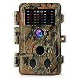 BlazeVideo No Glow Game Trail Camera 16MP HD 1080P IP66 Waterproof 120° 2-PIR