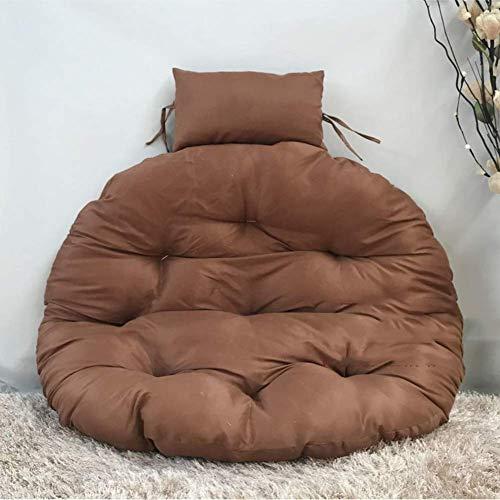 Dikke hangstoel zonder standaard, comfortabele schommelzitjes Nest Hangende stoel Terug Met Kussengember Geel D105cm Kleur : Roze, Maat : D105cm(41inch)