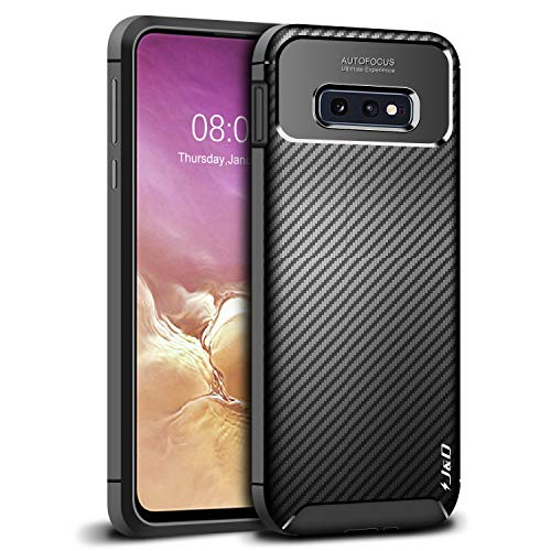 J&D Case Compatible for Samsung Galaxy S10e Case, Carbon Fiber Pattern Drop Protection Shockproof TPU Slim and Anti-Scratch Soft Case for Galaxy S10e Bumper Case, Not for S10 /S10 Plus/S10 5G
