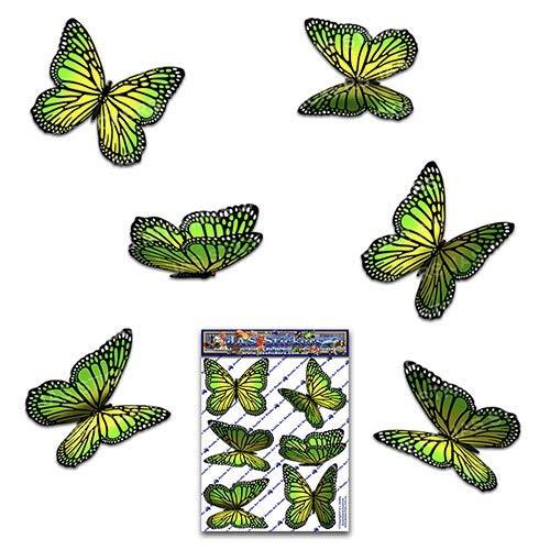 JAS Stickers® Schmetterling Tier Auto Aufkleber - Grün - Monarch Klein Vinyl Aufkleber pack für Laptop Gepäck Fahrrad Caravans Van Wohnmobile LKW-Boote - ST00028GR_SML