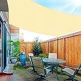 OKAWADACH Toldo Vela de Sombra Rectángulo 3 x 4m, Vela de Sombra Protección UV para Patio, Exteriores, Jardín, Color Beige