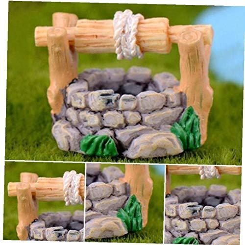 Miniatur Wishing Well Beweglichem Griff Und Wassereimer Für Gartenzwerge Und Feen