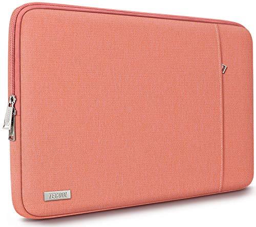 "TECOOL Funda Ordenador Portátil para 14 Pulgadas HP Lenovo Acer DELL ASUS Chromebooks, 15"" Surface Laptop 3, 2016-2019 MacBook Pro 15 Bolso Protectora Completa, Naranja"