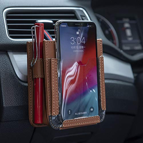 KRISWU Air Vent Car Pocket Multifunctional Car Pocket Automotive Mobile Phone Storage Holder Pouch Organizer Car Cradle Mount Small Bag for Cell Phone,Pencil,Charger