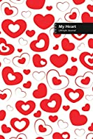 My Heart Lifestyle Journal, Blank Write-in Notebook, Dotted Lines, Wide Ruled, Size (A5) 6 x 9 In (White)