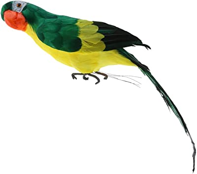 D DOLITY Ornamento de Patio Animales para Jardín Esculturas Estatuas de Decorar Loro Lindo - Verde: Amazon.es: Jardín