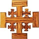 Logos Trading Post Heiliges Land Olivenholz Jerusalem-Kreuz