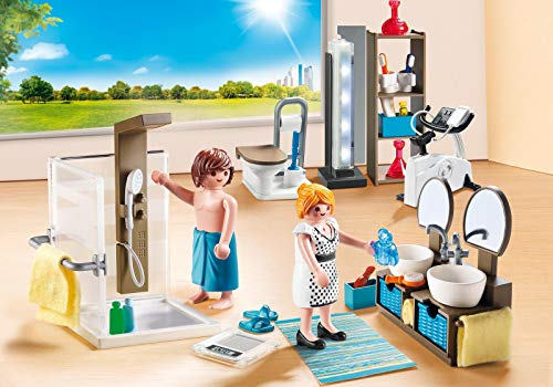 Playmobil - Jeu de Construction - Salle de Bain avec Douche à l'italienne - 9268 - City Life