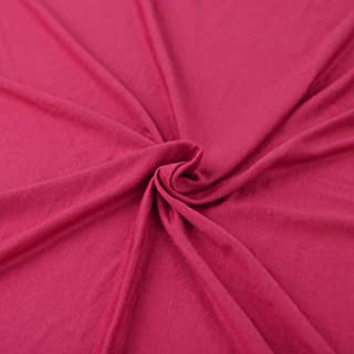 Cotton Spandex Jersey Fabric 12 oz - Solid Colors (2 Yards, Hot Pink)