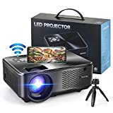 WiFi Projector,WeChip 8500L HD Outdoor Mini Projector, 1080P & 120' Screen Supported, Movie Home Theater Projector for TV Stick, Video Games, HDMI, USB, VGA, AV, Laptop, iOS & Android