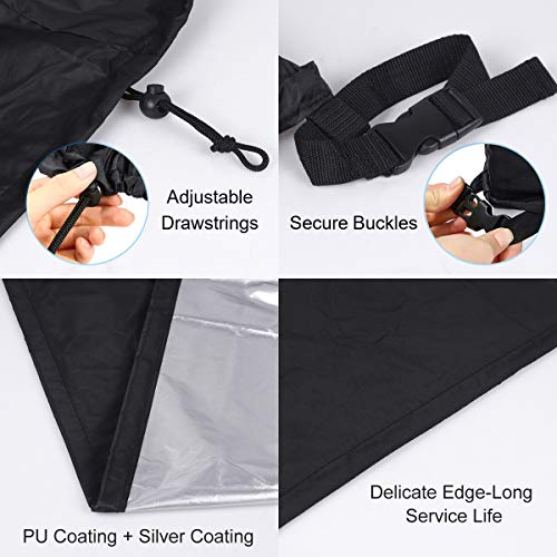 SanGlory Table Tennis Table Cover Ping Pong Table Protective Cover Heavy Duty Waterproof Windproof Anti-UV Oxford Fabric Protective outdoor 165×70×185cm