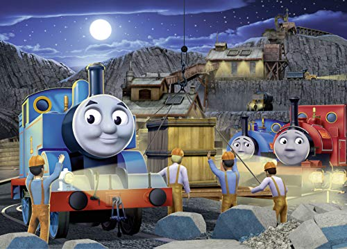 Ravensburger Thomas & Friends Night Work Glow-in-The-Dark 60 Piece Jigsaw Puzzle for Kids – Every Piece is Unique, Pieces Fit Together Perfectly