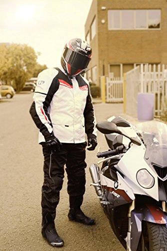 Motorradjacke Textil Wasserdicht Winddicht Mit Protektoren - 9
