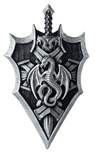 California Costumes Dragon Lord Shield & Sword, Silver/Black, One Size