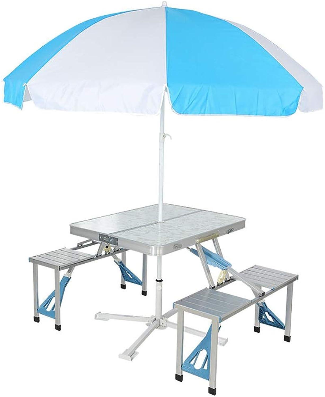 Lw outdoor Picknicktisch Tragbarer faltender hlzerner MDF-Tabellen-faltender Tisch mit Stühlen stellte beweglicher kampierender Tisch Innen und im Freien EIN