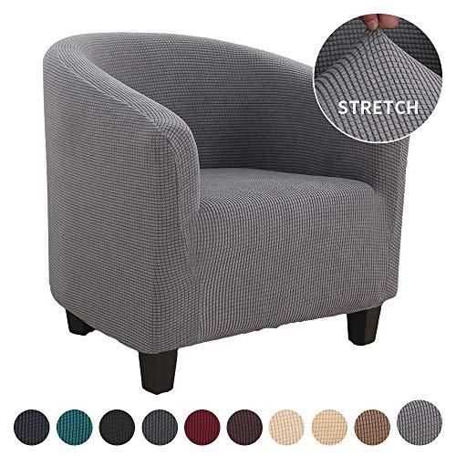 ChicSoleil Sesselschoner Sesselüberwurf Sesselhusse Sesselbezug Jacquard Elastisch Stretch Husse für Cafe Stuhl Sessel