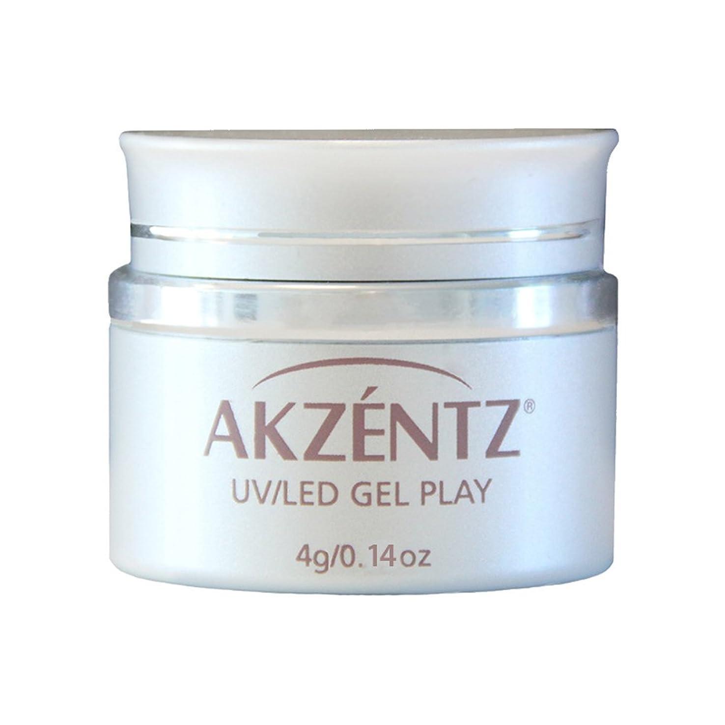 アブストラクトパッド神経AKZENTZ カラージェル ジェルプレイ グリッツ ローズゴールドリーフ 4g UV/LED対応