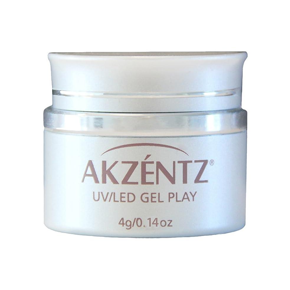 熟達したチーズ分類AKZENTZ カラージェル ジェルプレイ グリッター プラチナクォーツ 4g UV/LED対応